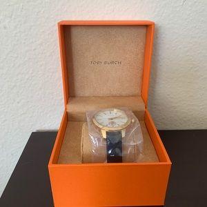 NIB Tory Burch Collins watch, leather strap